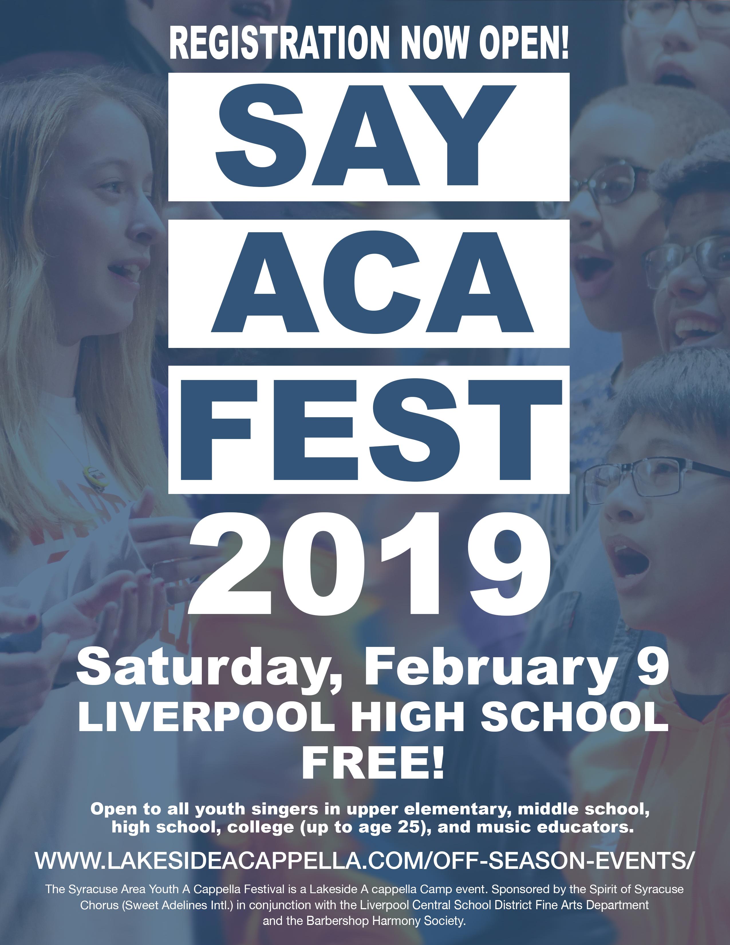 SAYACAFEST 2019 - Feb 09, 2019 | The Spirit of Syracuse Chorus